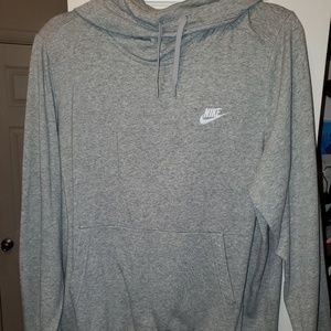 Light grey Womens nike pullover hoodie size xl
